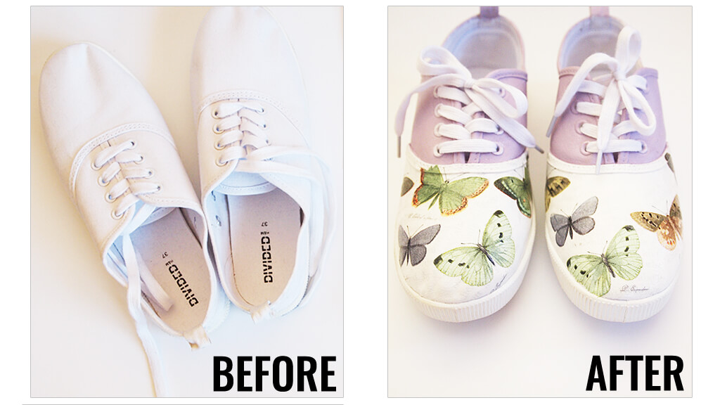 Decoupage Shoes How To Customize Your Own Shoes Using Napkins